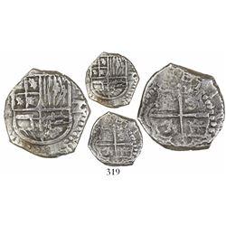 Potosi, Bolivia, cob 2 reales, (1)6(1)7(M), Grade 1.