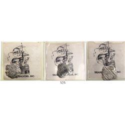 Lot of 3 Potosi, Bolivia, cob 1R, Philip III, assayers not visible, Grade 4, rare denomination for t