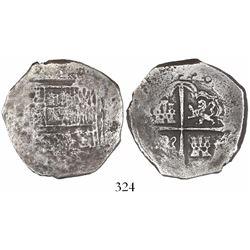 Seville, Spain, cob 8 reales, (16)22, assayer not visible (D), Grade-2 quality but Grade 4 on certif