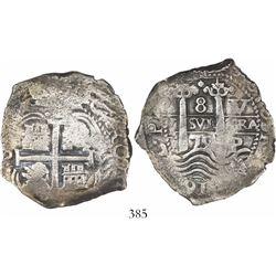 Potosi, Bolivia, cob 8 reales, 1679V/C.