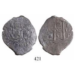 Potosi, Bolivia, cob 2 reales, 1668E, ex-Christie's.