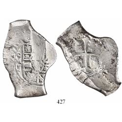 Mexico City, Mexico, cob 8 reales, 1711J, rare.