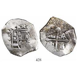 Mexico City, Mexico, cob 8 reales, (17)12(J), rare.