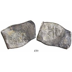 Mexico City, Mexico, cob 8 reales, 1713J.