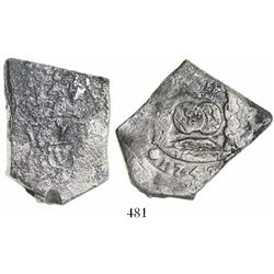 Guatemala, cob 8 reales, 1743J.