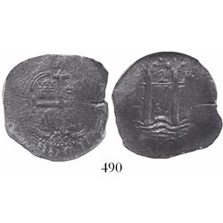 Potosi, Bolivia, cob 2 reales, 1669E, encapsulated NGC Genuine / Piedmont.
