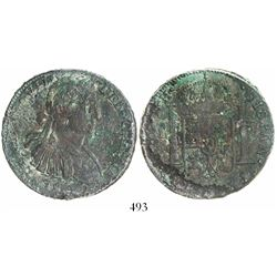 Clump of 2 Mexico City, bust 8 reales, one a Ferdinand VII transitional ( armored  bust), 1809, the