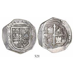Mexico City, Mexico, cob 8 reales, (161)1F.