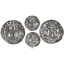 Lima, Peru, 4 reales, Philip II, assayer R to left (Rincon), motto as PL-VSV-TR, legends HISPA/N- an