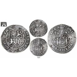 Lima, Peru, 4 reales, Philip II, assayer R to left (Rincon), motto as PL-VSVL-T, legends HISPA/N- an