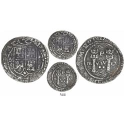 Lima, Peru, 2 reales, Philip II, assayer R to left (Rincon), motto as PL-VSV-LT, legends HISPA- and
