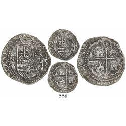 Lima, Peru, cob 1 real, Philip II, assayer X, extremely rare.