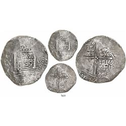 "Lima, Peru, cob 8 reales, 1659V, ""Star of Lima,"" mintmark L-star-M (Series II), rare."