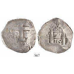 Lima, Peru, cob 8 reales, 1719M.