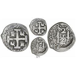 Lima, Peru, cob 2 reales quasi-Royal, 1722M.