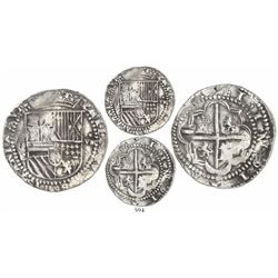 Potosi, Bolivia, cob 8 reales, Philip II, assayer C below erasure, very rare.
