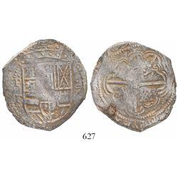 "Potosi, Bolivia, cob 8 reales, (16)29T, denomination 8, fine-dot borders, ex-""Panama hoard."""