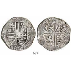 Potosi, Bolivia, cob 8 reales, (1)633T, rare, ex-Karon.