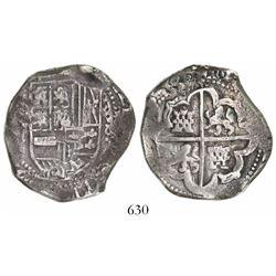 Potosi, Bolivia, cob 8 reales, (1)635(T).