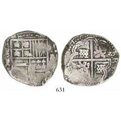Potosi, Bolivia, cob 8 reales, (16)42TR, rare.