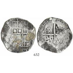 Potosi, Bolivia, cob 8 reales, 1642, assayer not visible, rare.