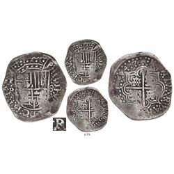 Potosi, Bolivia, cob 8 reales, 1647R (Ramirez), debased silver, extremely rare, ex-Faistauer.