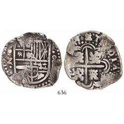 Potosi, Bolivia, cob 8 reales, (164)9Z (possible 9/7), no countermark, rare, ex-Faistauer.
