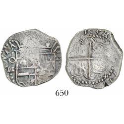 Potosi, Bolivia, cob 2 reales, (161)7M.