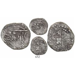 """Potosi, Bolivia, cob 2 reales, (16)23, date rendered as """"(16)ZIII,"""" assayer not visible, quadrants o"""
