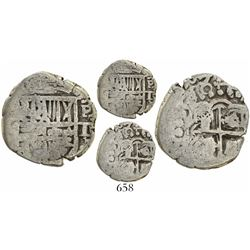 Potosi, Bolivia, cob 1 real, (16)18T, mintmark and assayer to right, rare.