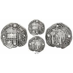 Potosi, Bolivia, cob 2 reales, (1652)E Transitional, McLean Type I, rare, Janson Plate Coin.