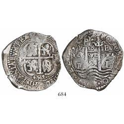 Potosi, Bolivia, cob 8 reales, 1659E.