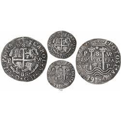 Potosi, Bolivia, cob 8 reales Royal, 1688VR.