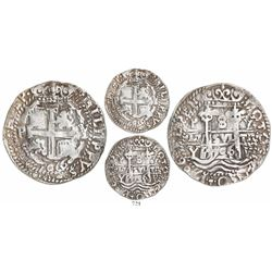 Potosi, Bolivia, cob 8 reales Royal, 1706Y, rare.