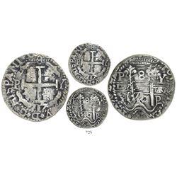Potosi, Bolivia, cob 8 reales Royal, 1717Y, rare, ex-Sellschopp, ex-Karon, Lazaro Plate Coin.