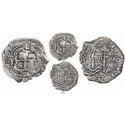 Potosi, Bolivia, cob 8 reales, 1726Y, (Louis I), rare.