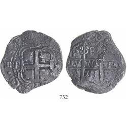 Potosi, Bolivia, cob 8 reales, 1733YA, rare.