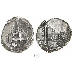 Potosí, Bolivia, cob 8 reales, 1768(V-Y).