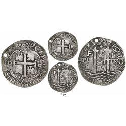 "Potosi, Bolivia, cob 4 reales Royal, 1677E, extremely rare, ex-""Americas"" collection."