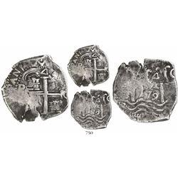 Potosi, Bolivia, cob 4 reales, 1679/8C/E, encapsulated NGC VF 20, extremely rare.