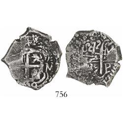 Potosi, Bolivia, cob 4 reales, 1739M, KM Plate Coin.
