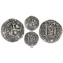 Potosi, Bolivia, cob 2 reales Royal, 1716Y, rare.