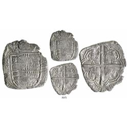 Bogota, Colombia, cob 8 reales, (16)28P, date at bottom, lions and castles transposed in shield and