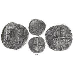 Bogota, Colombia, cob 8 reales, (16)32A, lions and castles transposed in shield and cross, rare, ex-