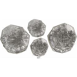 Bogota, Colombia, cob 4 reales, 1622A, Grade 1, very rare, ex-Atocha (1622).