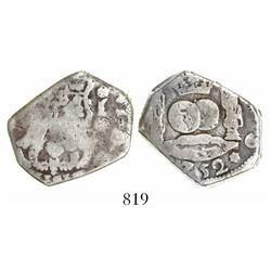 Guatemala, cob 4 reales, (1)752J.
