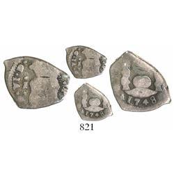Guatemala, cob 1/2 real, 1748J.