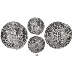 Seville, Spain (special issue for use in the New World), 1 real, Ferdinand-Isabel, mintmark S flanki
