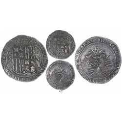 Seville, Spain, 8 reales, Ferdinand-Isabel, assayer Gothic D on reverse, mintmark to left, assayer t