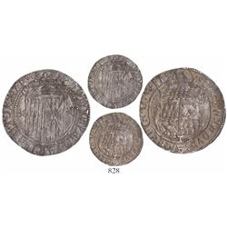 Toledo, Spain, 1 real, Ferdinand-Isabel, struck prior to the Pragmática of 1497 (1475-97), rare, ex-